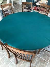 green felt table cover fits 60 round lifetime table elastic
