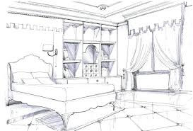 interior design bedroom drawings. Bedroom Design Sketch Terrific Interior Drawing 8 Sketches One Point Perspective Drawings E
