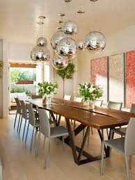 contemporary dining room light. Amazing Modern Dining Table Lighting Grey Leather Linda Chairs Provide Sleek Contrast To The Organic Contemporary Room Light