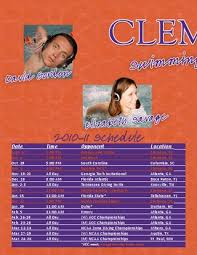 2010 11 Swimming Diving Media Guide By Clemson Tigers Issuu