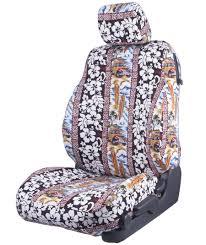 woody red hawaiian custom seat cover
