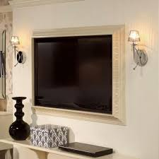 interior wall mounted tv frame new picture mount home design inside regarding 4 from wall