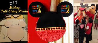diy mickey mouse pull string pinata