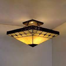 3 lights craftsman semi flush ceiling