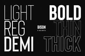 Latest Design Fonts Free Download Bison Font Family Free Download On Behance