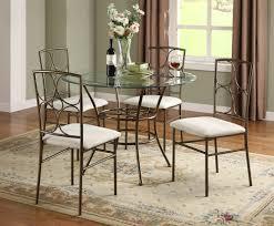 Rod Iron Kitchen Tables Round Black Glass Kitchen Table And Dining Room Glass Dining Room