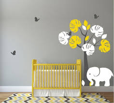elephant erflies baby room wall