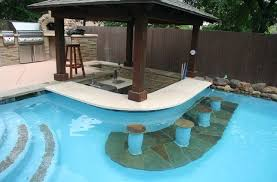 Pool Bar Poolside Outdoor Kitchen Contemporary Austin Pertaining To