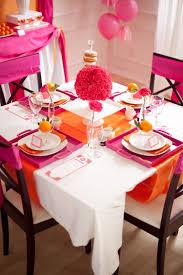hot pink + orange