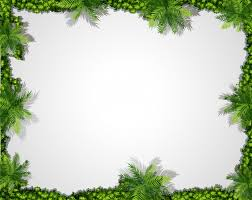 A Nature Green Border Background Vector Free Download