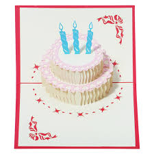 Jual Outerbloom Birthday Cake 3d Card Kartu Ucapan Harga Rp 40000