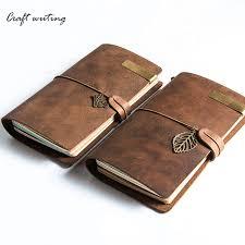 100 vine genuine leather notebook diary travel journal planner sketchbook agenda diy refill paper