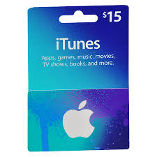 apple itunes 15 gift card blue