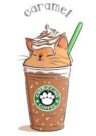 Cute easy drawings to help improve your concentration and memory. Caramel Coffee Cappuccino Cute Kawaii Drawings Cute Animal Drawings Cute Art