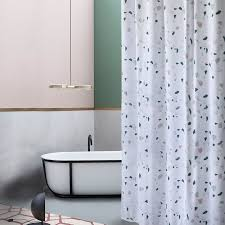 new liang qi thicken terrazzo print shower curtain bathroom partition waterproof high quality hanging curtain home