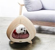 modern dog furniture. the bbunga house from korean design studio pote is a modern plywood pet dog furniture n