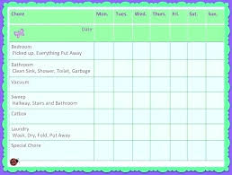 Weekly Household Chore List House Chores List Jamaicamedia Site