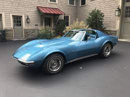 For Sale 1970 Corvette Coupe 4 Speed Mulsanne Blue Exterior Bright Blue Interior Located In Delaware Corvette Chevy Corvette For Sale Chevrolet Corvette