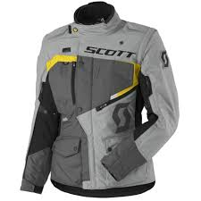 scott las dual raid dp waterproof jacket canada grey and yellow