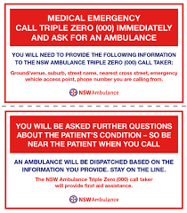 Emergency Card Template Emergency Templates For Sport And Other Venues Nsw Ambulance