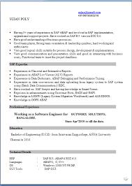 Enchanting Sap Abap Fresher Resume Doc 39 For Example Of Resume With Sap  Abap Fresher Resume