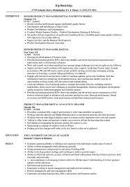 Product Manager Digital Resume Samples Velvet Jobs