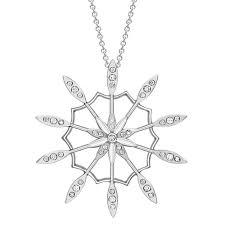 diamond velvet leaf cer pendant white gold