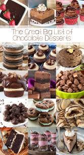 The Great Big List Of Chocolate Desserts Sarahs Bake Studio