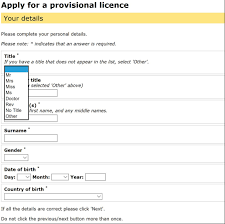 drivers licence form how to apply for your first uk driving licence online digital unite