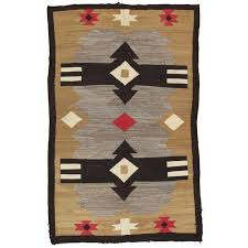 Blue navajo rugs Contemporary Antique Navajo Carpet Handmade Rug Brown Blue Beige Taupe Soft Red Len Woods Indian Territory Antique Navajo Carpet Handmade Rug Brown Blue Beige Taupe Soft