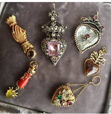 luckandlockets collection of antique heart jewelry