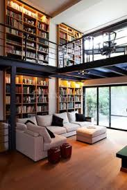 modern contemporary living room with mezzaninelibrary agri office mezzanine
