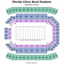 Citrus Bowl Seating Chart Citrus Bowl Seating Map Map 2018