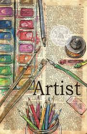 artist mixed a drawing on collegiate dictionary edition flying shoes art studio