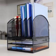 home office magazine. HLC Desktop Organizer Mesh Triple Magazine Rack Multi-functional Book Notebook Storage Best For Home Office