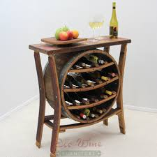 Image Glass This Magnificent Furniture Piece Features Table Top With 16bottle Wine Rack In The Eco Wine Furniture Wine Barrel Furniture Wine Rack