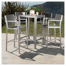target patio bar set. Brilliant Patio Cape Coral 5pc AllWeather WickerMetal Patio Bar Set  Gray Christopher  Knight Home  Target And A