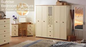 assembled bedroom furniture. cream and pine finish assembled bedroom furniture by the shop ltd | online n