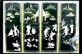 splendid ideas oriental wall decor asian art and bamboo oil metal famous fans