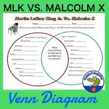 Differences Between Mlk And Malcolm X Venn Diagram Martin Luther King Jr Vs Malcolm X Venn Diagram Around The World