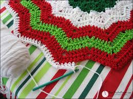 Christmas Tree Skirt Crochet Pattern Delectable Crochet Xmas Tree Skirt Patterns Image Home Garden And Tree RtecxCom