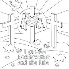 Religious Easter Coloring Sheets Wiralfactinfo