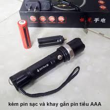 Bộ Đèn Pin Gelin ZOOM 3 chế độ sáng kèm Pin sạc Khay pin AAA Củ sạc ( hàng  tốt chất lượng )