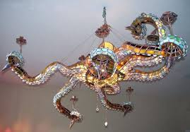 chandelier stained glass the inspirational octopus 4 kit