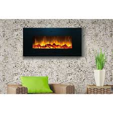 touchstone onyx 50 inch electric wall mounted fireplace black 80001