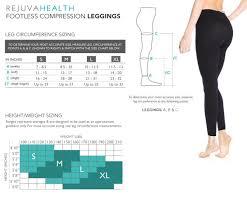 Tesla Compression Size Chart Rejuvahealth Indigo Blue Slimming Support 15 20 Mmhg Compression Legging