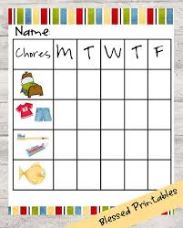 Toddler Chore Chart Printable By Soblesseddigitals On Etsy