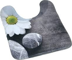 bathroom contour rug brown memory foam bath
