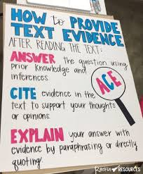 How To Teach Text Evidence Rockin Resources