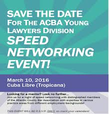 Save The Date Yld To Host Speed Networking Event 3 10 16 Acba